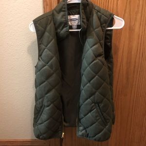 Texted Quilted Vest